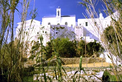 The monastery from the vegetable garden