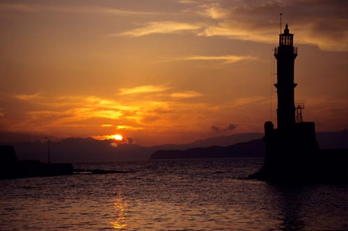 A Sunset on the Island of Crete