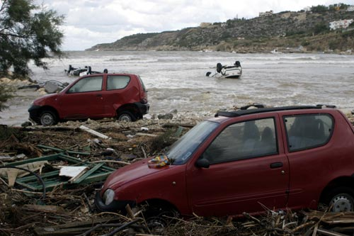 Cars Washed Out To Sea