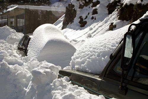 Snow Hits Crete